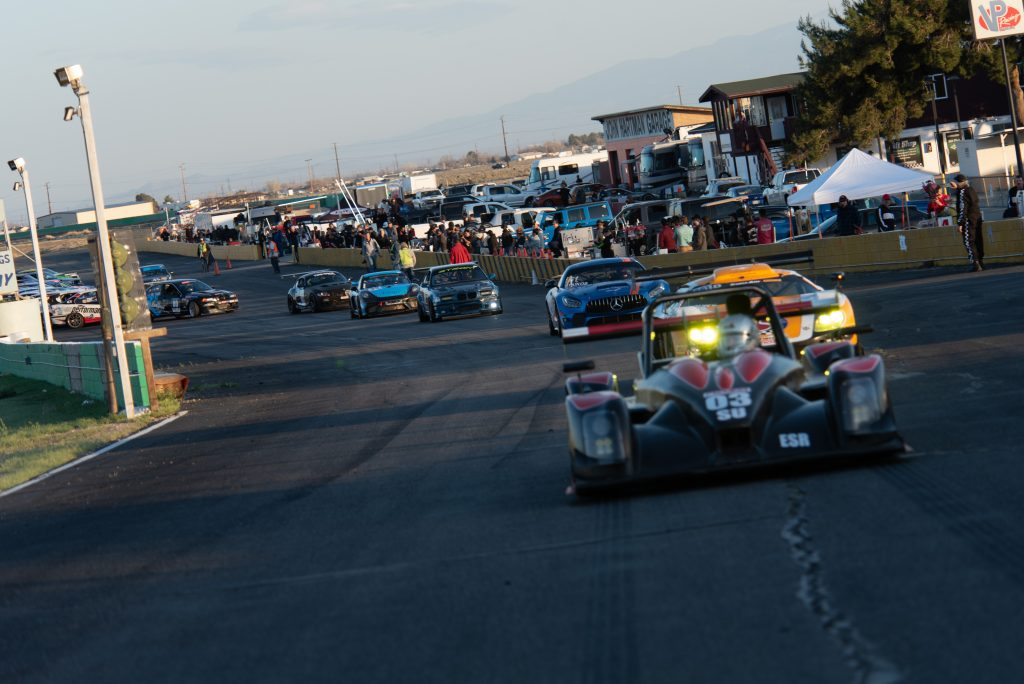 Norma leading line of racecars