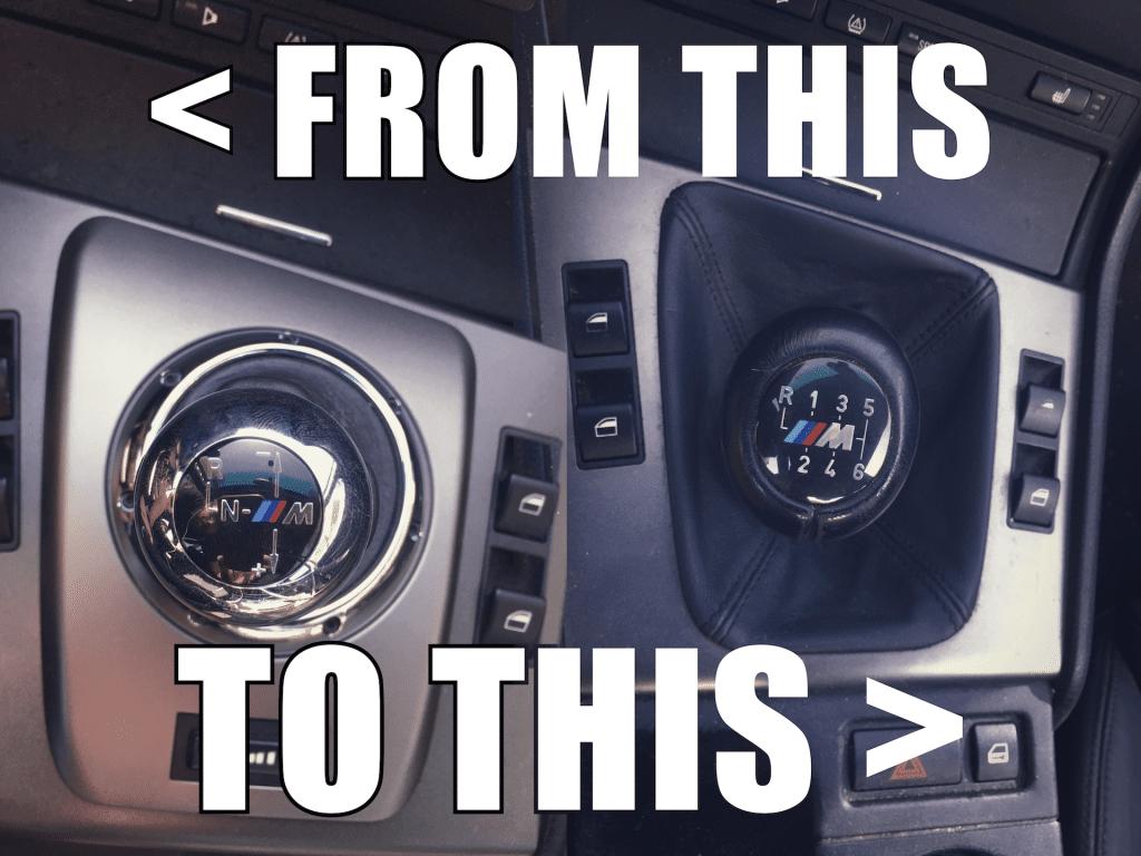 E46 M3 SMG to Manual Conversion