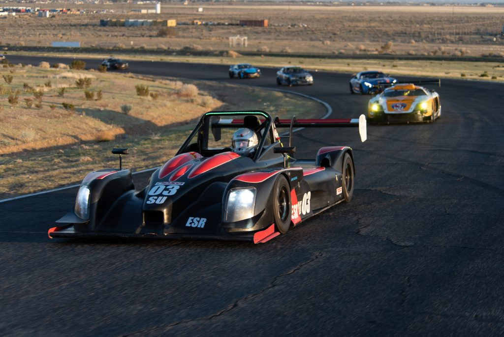 Norma leading race cars at Willow Springs International Raceway