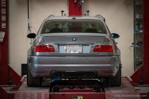 BMW being serviced at or shop in Orange County